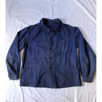 30's French Cotton Twill Work Coverall Wood buttons