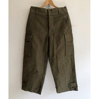 "50's French Army M47 Field Trousers Two Front Buttons ""Good Condition"""