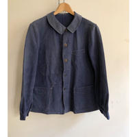 "Later 30's〜Early 40's French Cotton Work Coverall with ""Wood&Born Buttons"""