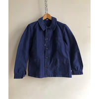 "Early 40's Ink Blue Moleskin Coverall Made by """"Prole Lcions"""