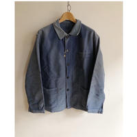 "40's〜50's Ink Blue Moleskin Coverall Made by ""Le Mont St Michel"""