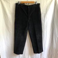 1940's/1950's  Black Corduroy Work Pants Made by Le Meilleur d' Amiens (Big Size)