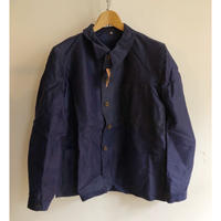 Later30's〜Early40's Wood Buttons Ink Blue Moleskin Coverall Dead Stock