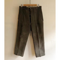 "30's ""Le Mont St Michel"" Pique With Back Cinch Farmers WorkTrousers"