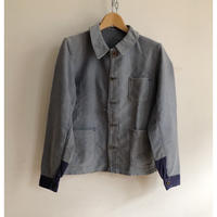 30's Special Faded Ink Bleu Moleskin Coverall With Metal Buttons