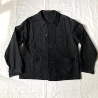 1950's Black Moleskin Coverall Made by Adolph Lafont