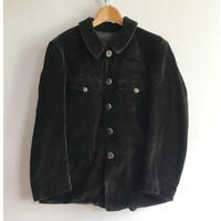 40's〜50's Heavy Corduroy Animal Buttons Hunting Jacket Good Condition