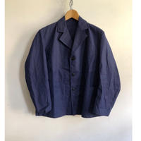 Later30's〜40's Cotton/Linen Lapel Work Jacket Dead Stock