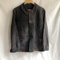 40's/50's  Repaired Black Moleskin Coverall/2
