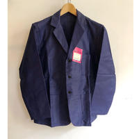 "50's Ink Blue Moleskin Lapel Jacket Dead Stock Made from ""Mont Kemmel"""