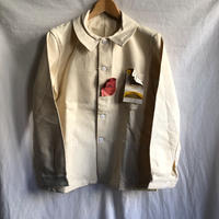 50's Natural Cotton Painter Jacket Dead Stock.