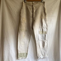 〜30's French Military Boro Bourgeron Trousers HBT Linen