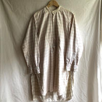 1940's〜1950's  Pink Plaid Farmers Work Shirt with Hand repaired/ Patched
