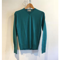"JOHN SMEDLEY ""IMPERFECT A3834 Pullover"" Green Fine Merino Wool"
