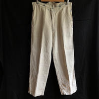 1920's/1930's French Military Linen Twill Bourgeron Pants