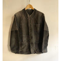"40's ""French Stitchで&Patchied"" Black Moleskin Coverall"
