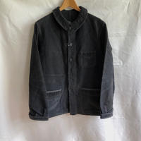 1940's Black Moleskin Coverall Made by Ange St Michel