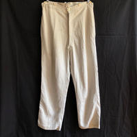 〜1930's French Military White HBT Linen Borgeron Pants