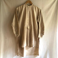 "1940's Collarless Farmers Work Shirt Made by ""Le Chat Vert"""