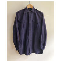 "40's French Army ""Indigo Cotton/Linen"" Military Shirt Excellent Condition"