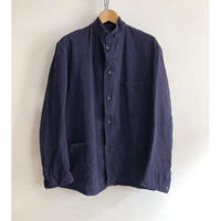 """50's Royal Navy Stand Collar Work Jacket Made by """"HOLDFAST"""" Hard Repaired"""