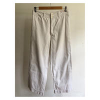 30's〜40's British Cotton/Satin White Summer Weight Work Trousers