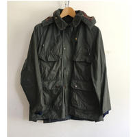 "80's  Barbour 3 Crest ""Old BEDALE"" With Hood 36"