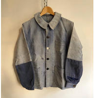 "40's Ink Blue Home Repaired Moleskin Coverall Made from ""Maximum"""