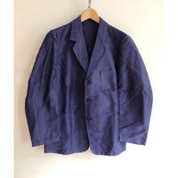 "50's  ""Le Favori"" Ink Blue Moleskin Lapel Jacket Dead Stock"