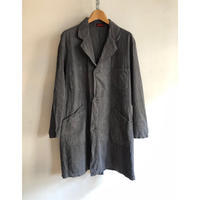 "Later40's〜50's Black Chambray Atelier Coat Made by ""ROBUR"" (For Mechanic?)"