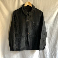 40's Black Moleskin Coverall Hard Repaired and Remade. Made by Le Mont Rouge