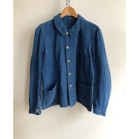 "〜30's Indigo Linen Work Jacket Made by  ""Au Molinel"""