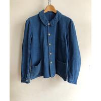 "〜30's Indigo Linen Work Jacket Made by  ""Au Molinel"""