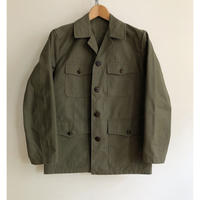 50's Animal Buttons Light Canvas Hunting Jacket Dead Stock