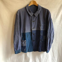 〜Later30's Light Cotton Work Jacket with Cotton Twill Indigo Linen Patched
