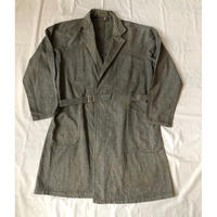 "Early 40's Black Chambray Painter Tielocken Coat Made From ""Adolphe Lafont""/2"