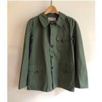 50's Green Canvas Animal Button Hunting Jacket Dead Stock