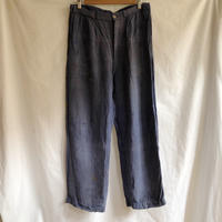 〜30's Linen Work Trousers With Hard Repaired.