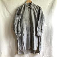 1920's Grey Striped Farmers Work Shirt
