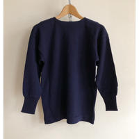 70's Italy Navy Boat Neck Sweater Dead Stock