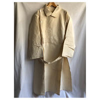 50's French Military Double Breasted Hospital Coat Dead Stock