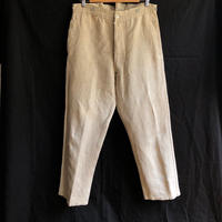1933's  French Military Natural Linen Bourgeron Pants