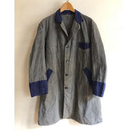 40's Two Tone Coloring Black Chambray Atelier Coat
