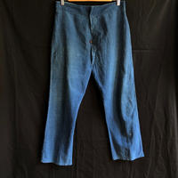 1900's Indigo Cotton/Linen Work Pants