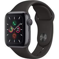 Apple Watch Series 5 GPSモデル 44mm スペースグレイアルミニウムケースとブラックスポーツバンド S/M & M/L