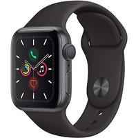Apple Watch Series 5 GPSモデル 40mm スペースグレイアルミニウムケースとブラックスポーツバンド S/M & M/L