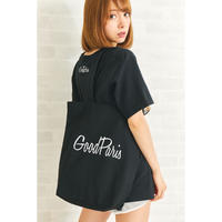 GOOD PARIS TOTEBAG /BLACK GDG-002
