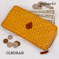CL2752 ECRI エクリ 馬革メッシュ ラウンドウォレット CLEDRAN(クレドラン)