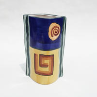 Abstract paint ceramic vase