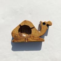 Wooden camel ashtray